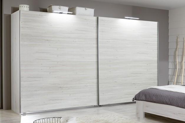 Vicenza - Šatní skříň 4, 2x posuvné dveře (dub bílý)