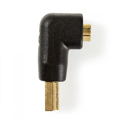 Video kabely + konektory Adaptér Nedis HDMI/HDMI, zahnutý