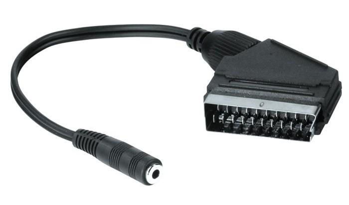 Video kabely + konektory Audio redukce SCART - jack