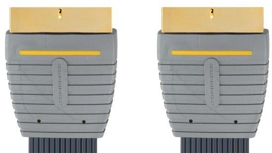 Video kabely + konektory BANDRIDGE SCART Kabel SCART Zástrčka-SCART Zástrčka 5m Modrá