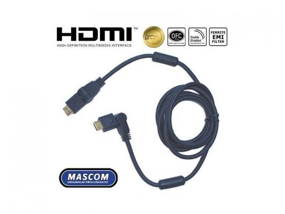 Video kabely + konektory HDMI 1.4 High Speed,4K,ARC,Ethernet,Rotační konektory,délka2m