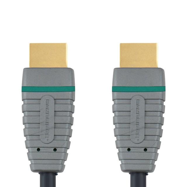 Video kabely + konektory HDMI/HDMI TV kabel Bandridge 3m