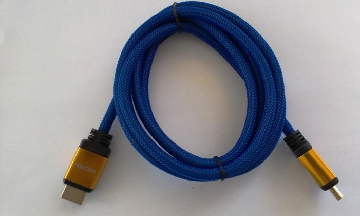 Video kabely + konektory HDMI/HDMI TV kabel MK Floria s opletením 3m