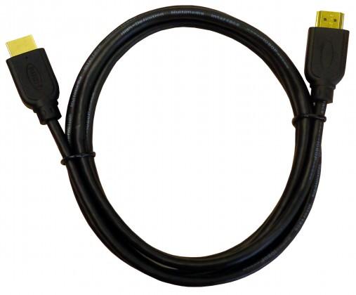 Video kabely + konektory HDMI kabel pozlacené konektory 1080p HDTV délka 1,8m