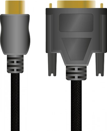 Video kabely + konektory HDMI to DVI High End Cable - for PS3, black