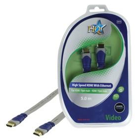 Video kabely + konektory HQ HDM kabel 5m HIGH SPEED + ETHERNET - BLISTR