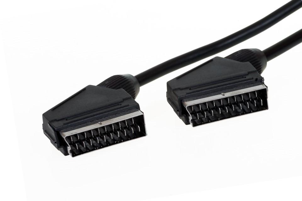 Video kabely + konektory SCART/SCART TV kabel AQ 3m