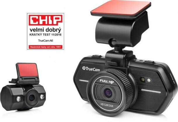 Videokamery Autokamera TrueCam A6, FULL HD, GPS, přední + zadní kamera