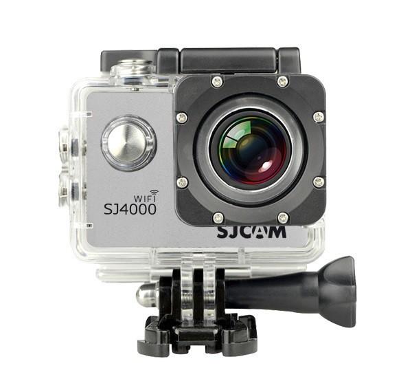 Videokamery SJCAM SJ4000 WIFI sportovní kamera - stříbrná