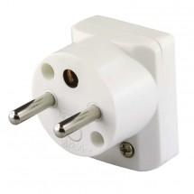 Vidlice úhlová pro prodlužovací kabel Emos P0035, bílá