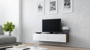 Vigo - TV komoda 140 (latte/bílá lesk)
