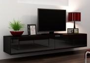 Vigo - TV komoda 180 (černá mat/černá VL)