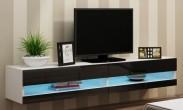 Vigo - TV komoda 180 otevřená (bílá mat/černá VL)
