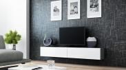 Vigo - TV komoda 180 (šedá/bílá lesk)