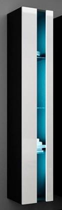Vigo - Vitrína závěsná 180,1x dveře bez skla (černá mat/bílá VL)