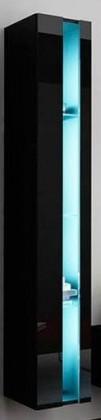 Vigo - Vitrína závěsná 180,1x dveře bez skla (černá mat/černáVL)