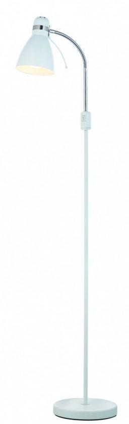 Viktor - Lampa podlahová (kov/kov/bílá)