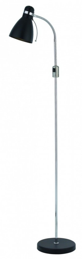 Viktor - Lampa podlahová (kov/kov/černá)