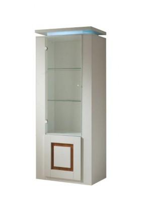 Vitrína Diva - Vitrína, 2x dveře (bílá/ořech)
