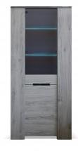 Vitrína Glen (1x dveře, figaro, beton)