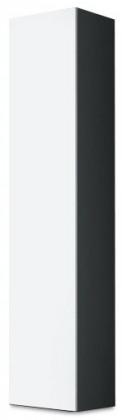 Vitrína Vigo - Vitrína závěsná 180, 1x dveře (šedá/bílá lesk)