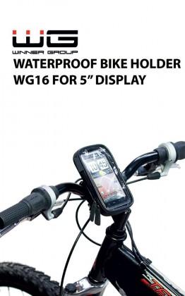 """Voděodolný držák na kolo Winholder WG16, do 5"""", černá"""