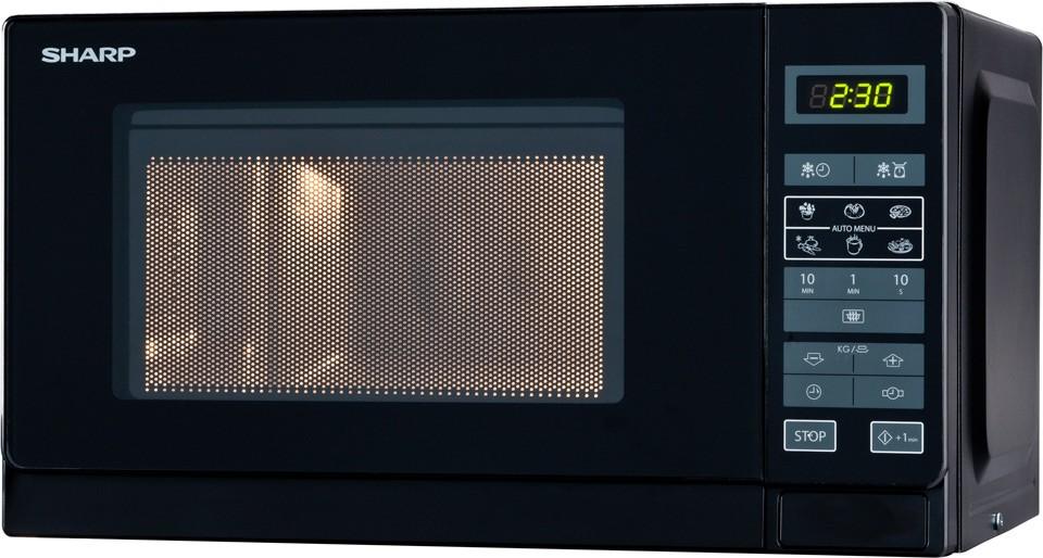 Volně stojící mikrovlnná trouba Sharp R-242(BK)E