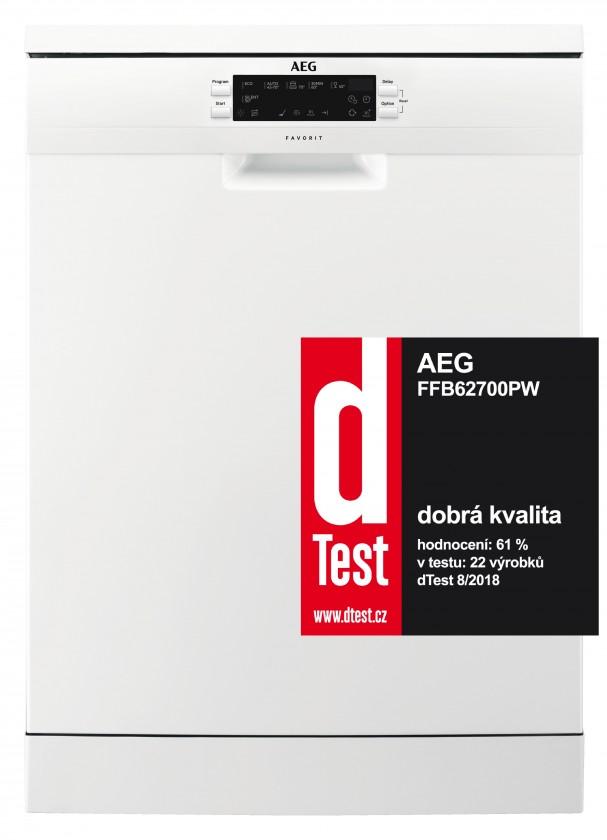 Volně stojící myčka Volně stojící myčka nádobí AEG FFB 62700 PM, A++,60cm,15 sad
