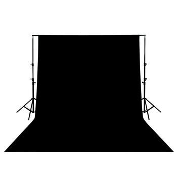 Vybavení foto studií KÖNIG foto pozadí 3x3m - černé - KN-BD33B