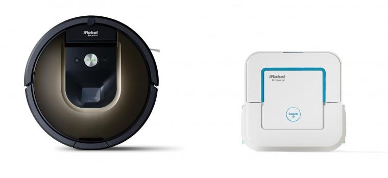 Vysavače na zvířecí chlupy Robotický vysavač iRobot Roomba 980 + Braava jet 240