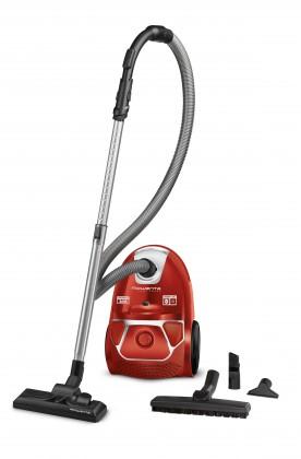 Vysavače pro alergiky Sáčkový vysavač Rowenta Compact Power Parquet RO3953EA červený