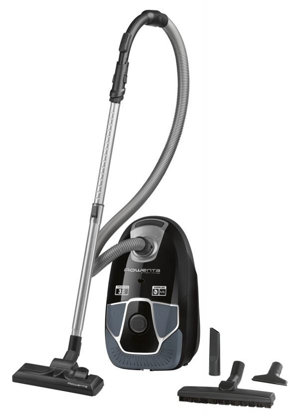 Vysavače pro alergiky Sáčkový vysavač Rowenta X-Trem Power Parquet RO6856EA černý/šedý