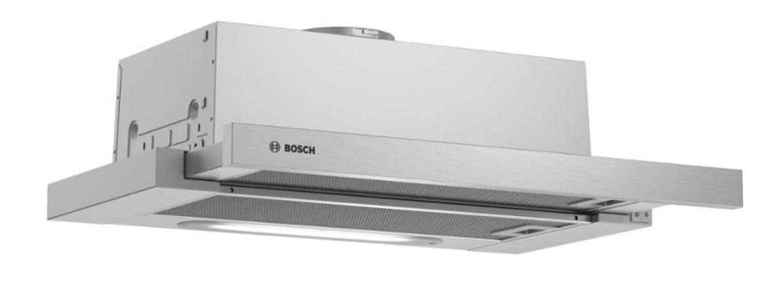 Výsuvný, výklopný odsavač par Výsuvný odsavač par Bosch DFM064W50, 60 cm
