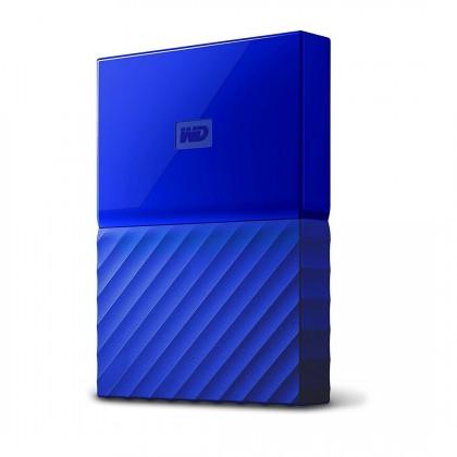 Western Digital My Passport, WDBYFT0040BBL, 4 TB, modrá