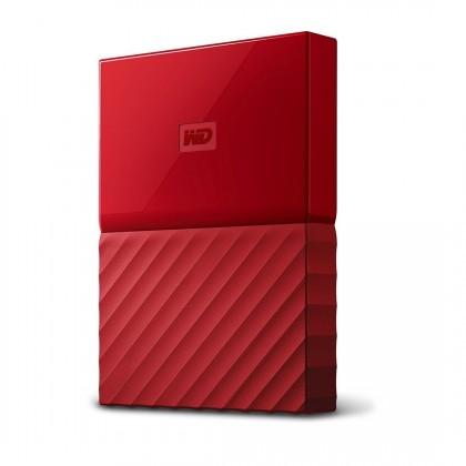 Western Digital My Passport, WDBYFT0040BRD, 4 TB, červená