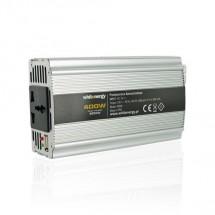 Whitenergy měnič napětí DC/AC 12V / 230V, 400W, USB 06581