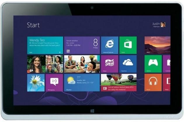 Windows tablet Acer Iconia Tab W510P (NT.L0SEC.001) stříbrný