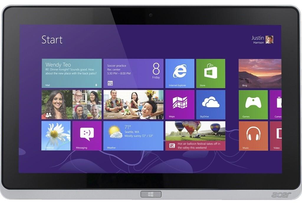 Windows tablet Acer Iconia Tab W700 (NT.L0QEC.001) stříbrný