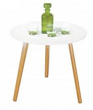 Winter - Konferenční stolek bílý, dubové nohy (dub, bílá)