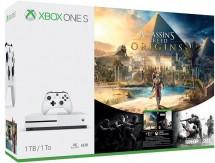 XBOX ONE S,1TB,bílá+Assassin's Creed:Origins a Rainbow Six:Siege
