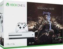XBOX ONE S, 1TB, bílá + Middle-Earth: Shadow of War 234-00189