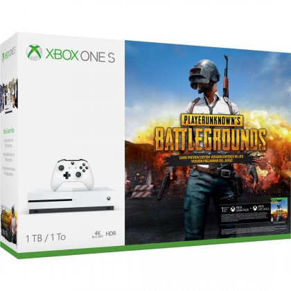 XBOX ONE S, 1TB, bílá + PlayerUnknown's Battlegrounds 234-00310