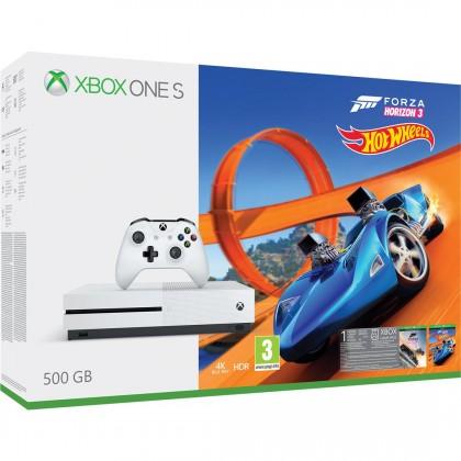 XBOX ONE S, 500GB,bílá+Forza Horizon 3+Hot Wheels DLC ZQ9-00211