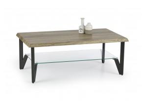 Xena - konferenční stolek (dub žíhaný/černá)
