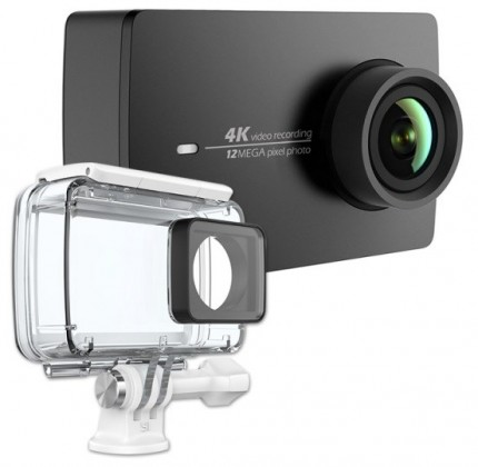 YI 4K Action Camera Kit-set,akční sport kamera+voděo kryt,čern