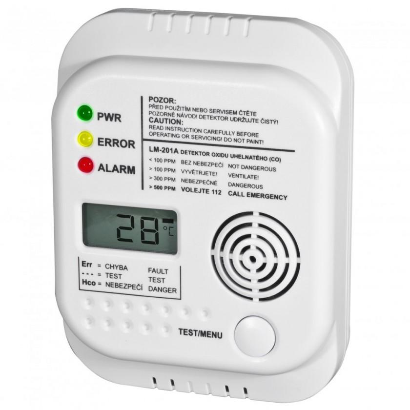 Zabezpečovací systém Autonomní detektor ELEKTROBOCK CO LM-201A