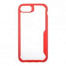 Zadní kryt pro Apple iPhone 7/8, průhledná/červená, ROZBALENO