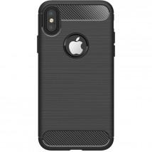 Zadní kryt pro Apple iPhone XR, karbon, černá