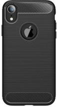 Zadní kryt pro Apple iPhone XS MAX, karbon, černá