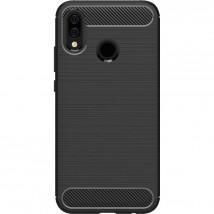 Zadní kryt pro Honor 10 Lite/Huawei PSmart 2019, karbon, černá